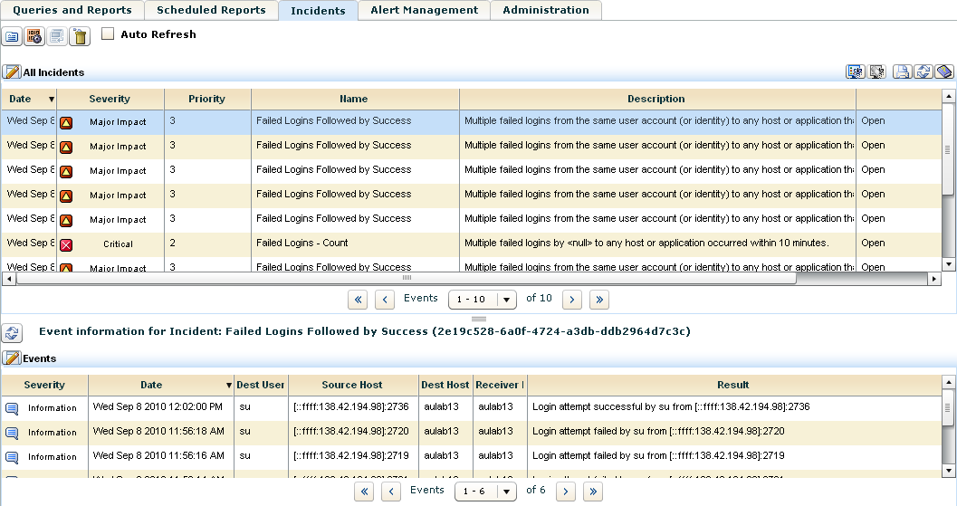 Incident Tracking Standard controls to view/edit incident details View a list of all