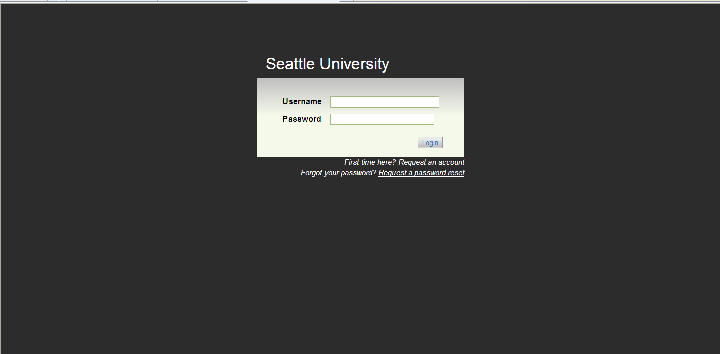 After entering jobs.seattleu.