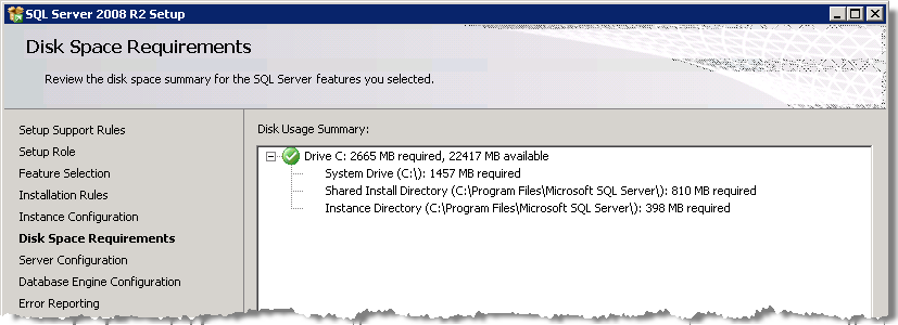 Installing SQL Server StruxureWare Power Monitoring Expert 7.2 Installation Guide Click Next when you complete your selections.