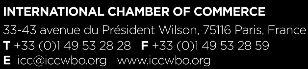 The International Chamber of Commerce (ICC) ICC is the world business organization, a representative body that speaks with authority on behalf of enterprises from all sectors in every part of the