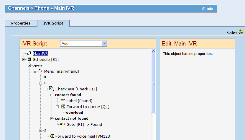 Flexible IVR Set-up Easy t cnfigure tree structure fr IVR: