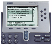 Cisco IP Phone Integration Cisco Conference Connection can be integrated with Cisco IP Phones by enabling service on the CallManager.