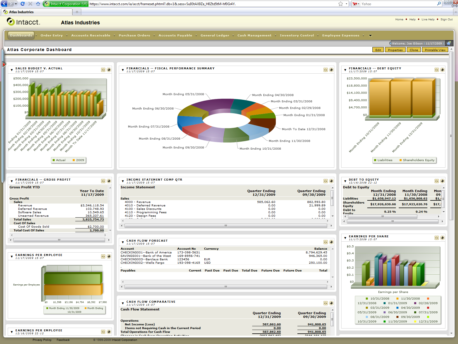Product Brief Intacct Financials & Accounting Intacct Financials and Accounting includes Intacct General Ledger, Intacct Accounts Receivable, Intacct Accounts Payable, Intacct Cash Management and