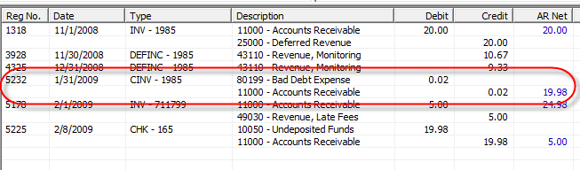 Customer Explorer / Journal Summary Invoices credited off will display in the Customer s Journal Summary under the G/L account number selected in the posting area of the Credit Off Invoice Balance