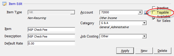 Sales Tax Sales tax is automatically calculated on all invoice types depending on your company settings within the SedonaSetup application. If a customer site is flagged as exempt; i.e. if there is an entry in the Tax Exempt field of the Site, no tax will be calculated for any invoice created for the customer site.