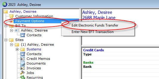 ACH Customer Bank Setup A User may enter and store any number of ACH Banks to a customer record.