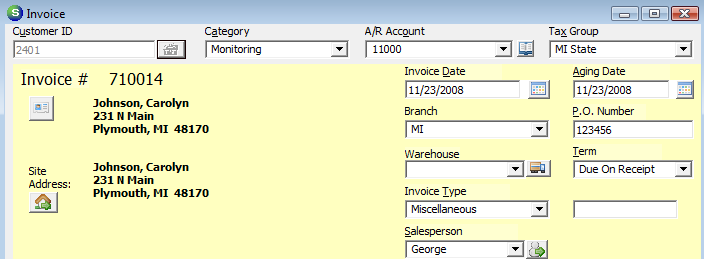 Invoice Date The invoice date will default to the date on which the invoice is being created, however this date may be changed to any date that is in an open accounting period.