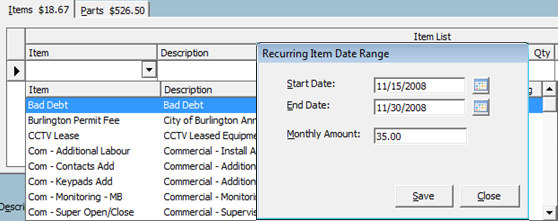 If the quantity is set to greater than 1, the application will automatically fill in the Amount field with the calculation of Qty x Rate.