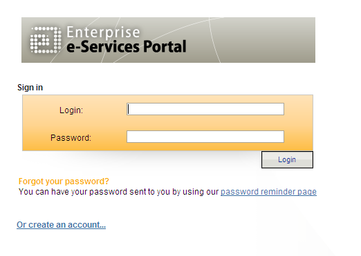 Insert your current login and press the Password reminder page bottom 11.