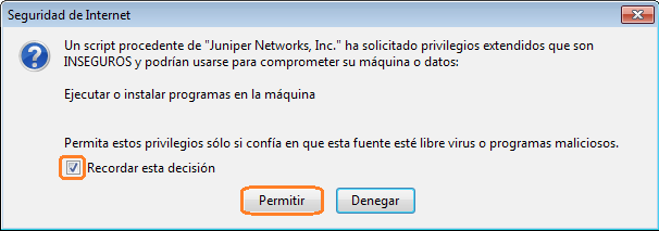- If you use Mozilla Firefox, a pop-up window will appear asking if you want to install this program.
