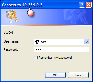 6. Establish the VPN connection As you can see ecatcher is connected to the «ewon firm XY» on IP address 10.254.0.2. This address is the default VPN address of the ewon (refer to page 11).