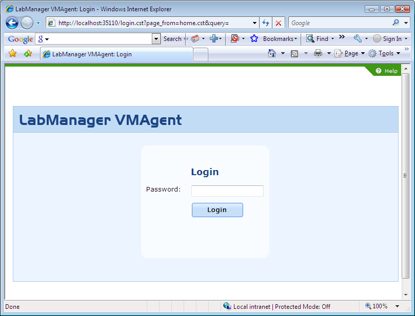 Configuring the Host Agent (VMAgent) The Lab Manager VMAgent is responsible for monitoring and interacting with the virtual infrastructure.