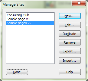 4. In the Choose Root Folder dialog box, navigate to find the folder that contains your website files. Open that folder and make sure that the correct folder is selected in the lower left message. 5.