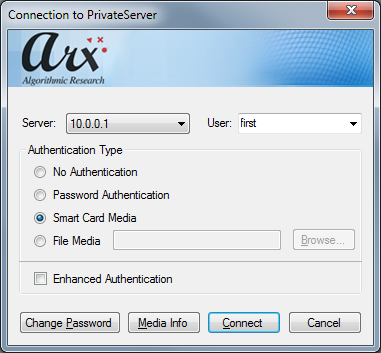 7. Initialize the PrivateServer with the newly generated set of smart cards (Init and Startup).
