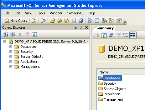Verifying the SQL Server installation Click on Start and find the SQL Server Management Studio Express program and start it. Change the Connect option to SQL Server Authentication!