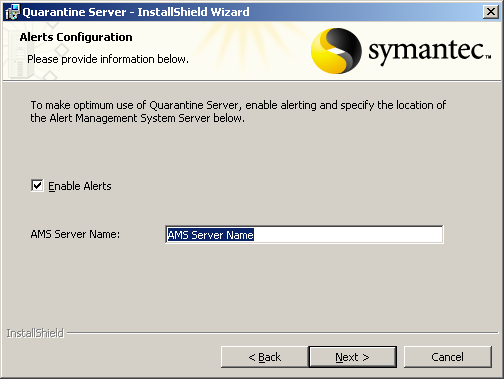 120 Installing Quarantine and LiveUpdate servers Installing and configuring the Central Quarantine 8 In the Contact Information panel, type your company name, your Symantec contact ID/account number,