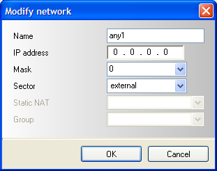 1.3 Attaching a second internet network object You have to create a second internet object to setup separate rules for the different DSL connections.