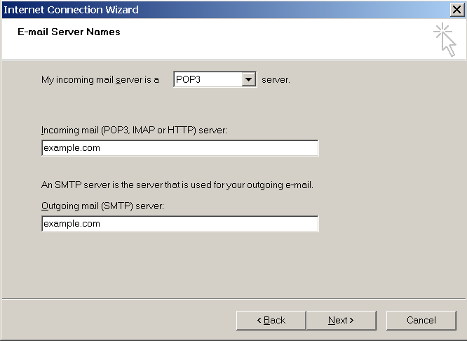 Accessing Your Mail from a Web Browser 31 6. Specify the following settings: Protocol of your incoming mail server. If you want to keep copies of messages on the server, select the IMAP option.
