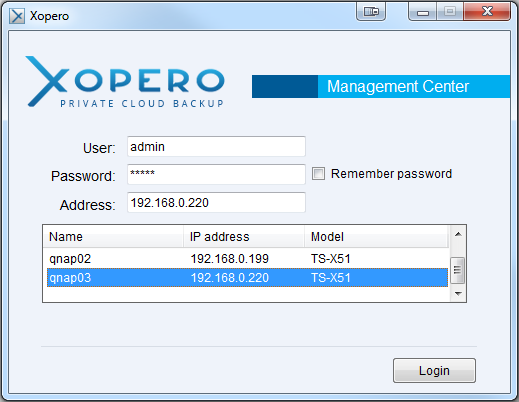 Figure 2. Xopero Control Panel. When the download is finished, install and run the Management Center application on your computer.