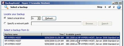 You can use the buttons at the top of the Hyper-V Config Reporter window to print a copy of the report, save it to a HTML file that can be opened with a web browser, or close the report window.