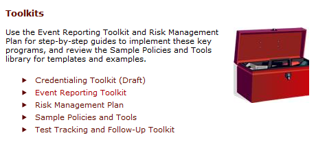 Credentialing Toolkit Sample Credentialing/Privileging Policy Credentialing: Step-by-Step Process Credentialing Timeline Sample Application Packet Guide for Preparing Files for an FTCA