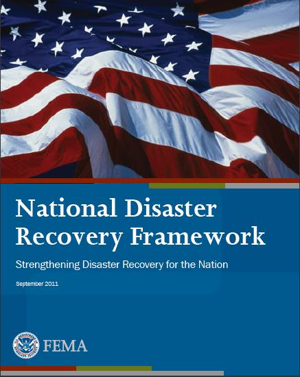 National Disaster Recovery Framework a scalable, flexible, and adaptable