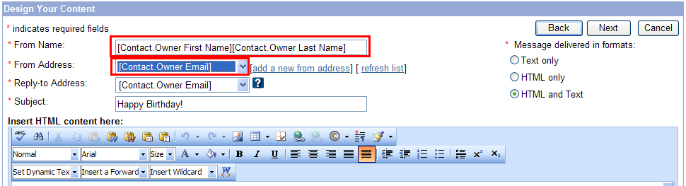 Three attributes are automatically included in your account for your convenience: Owner Email, Owner First Name, and Owner Last Name.
