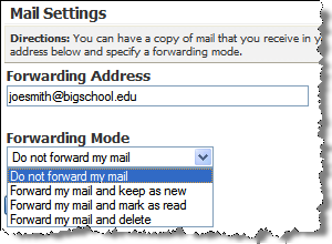4. Click the Forwarding Mode drop-down list and select the forwarding mode of your choice. 5. Click the Save button.