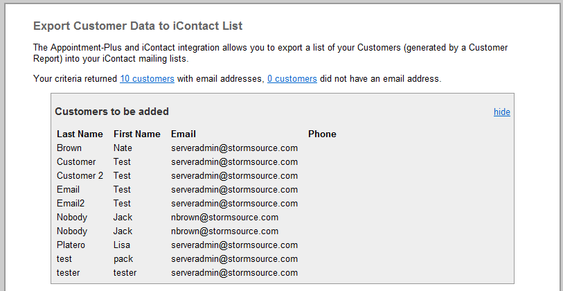 (Figure 4) To review the list, click on the # customers link on your report (see Figure 5 below).