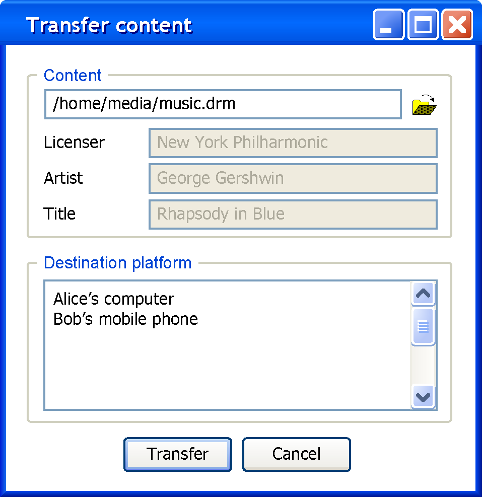 Use Case Unique ID / UC 60 / Title Content Transfer Description User wants to transfer the content c according to the license lic c from its platform TC to another platform TC dest.