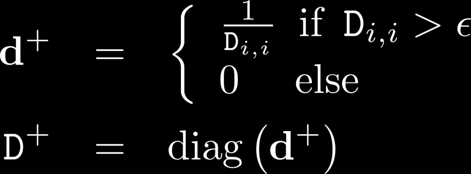 Truncated Singular Value Decomposition solution to stability problems: avoid dividing by values