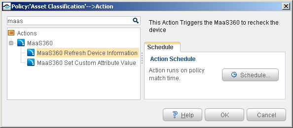 Refresh Device Information Action The Refresh Device Information action