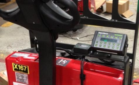 Integrating MHE + OTR Data The integrated system knows who used each pallet jack for unloading and when, plus travel, impacts, etc.