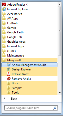 Once the installation is complete, close the wizard and launch Aneka Management