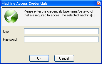 Figure 19 - A list of Machine Credentials Figure 20 - Creating a new credential As noted earlier, the user account must have administrative rights to the target machine, and can either be a local