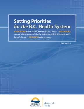 Setting Priorities for the B.C.