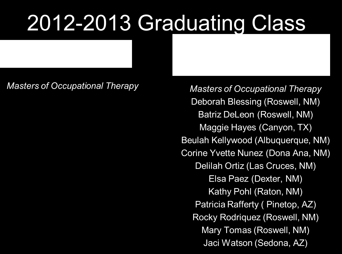 Master's in Occupational Therapy?