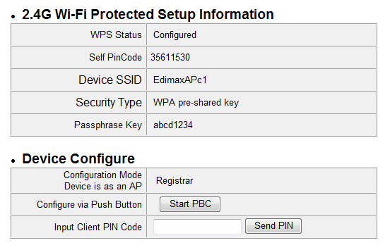 VI-4. WPS Settings Wi-Fi Protected Setup is a simple way to establish connections between WPS compatible devices.