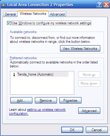 "3. Click ""Wireless Networks"", select the item under"