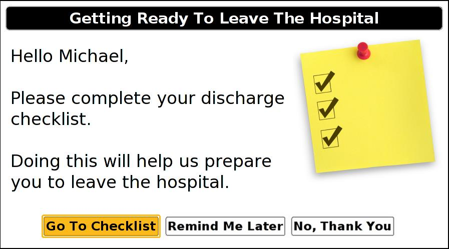 1 Discharge Management Countdown to Discharge Pathway Discharge Readiness Questions 3 2 1.