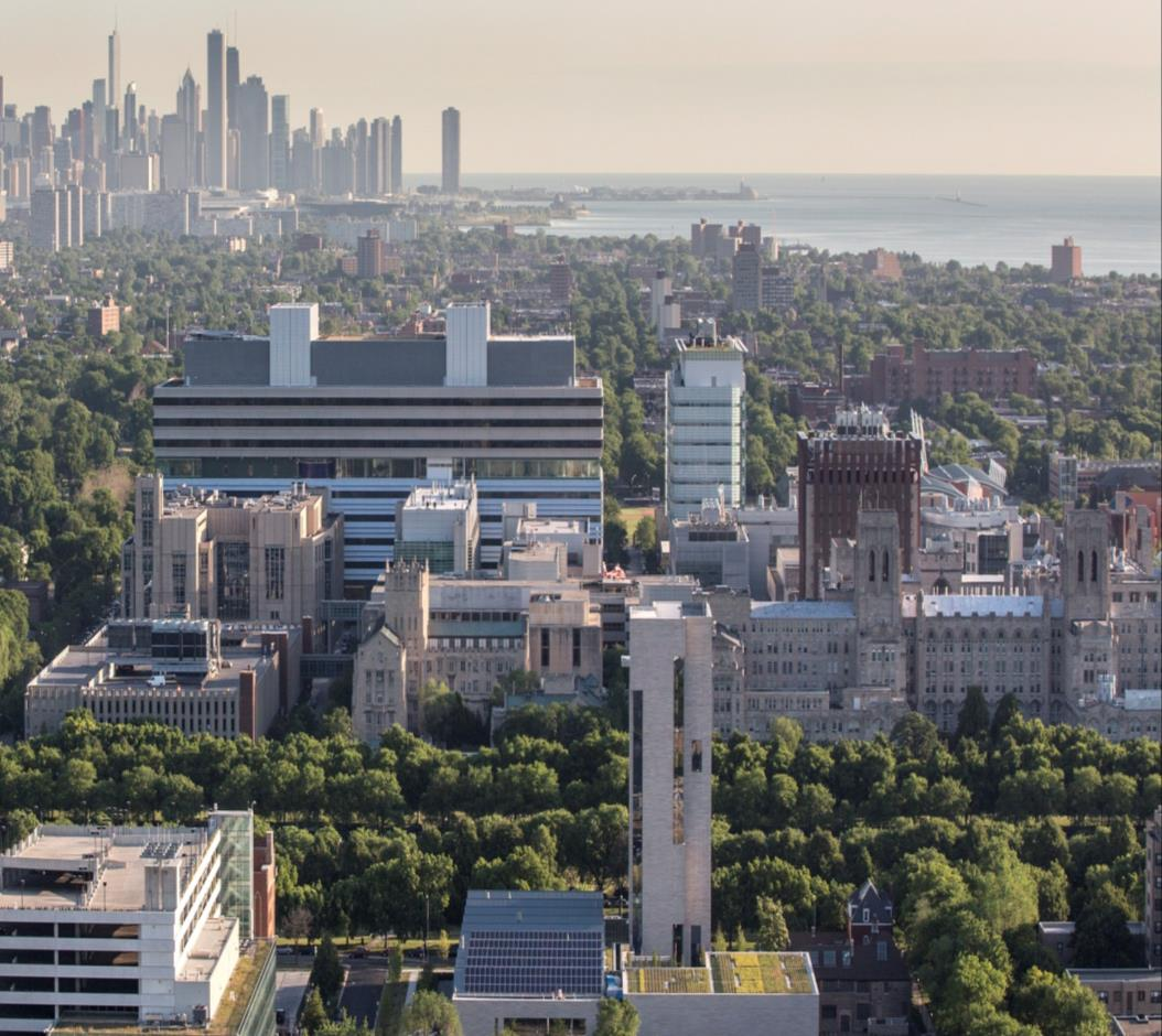 The University of Chicago Medicine & Biological Sciences Embedded in the University of Chicago campus in Chicago s Hyde Park neighborhood More than a century of groundbreaking