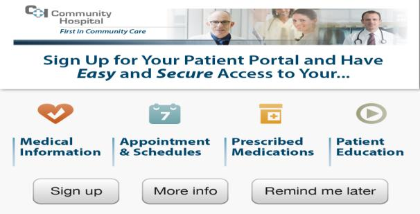 Patient Portal Enrollment Easily enroll patients in your portal while in hospital.