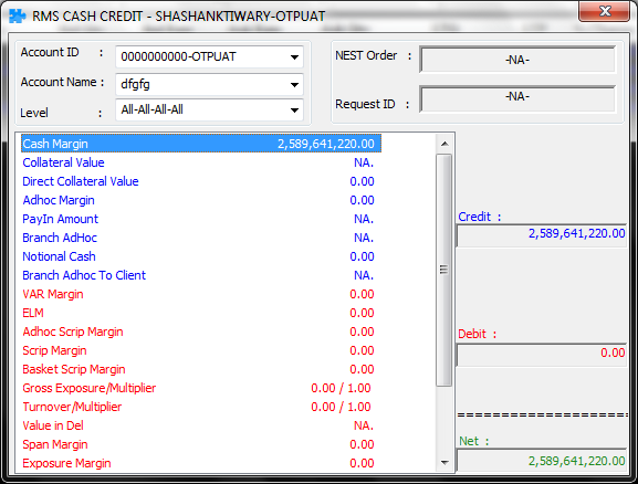 Fig: List of Indices How to view the account balance?