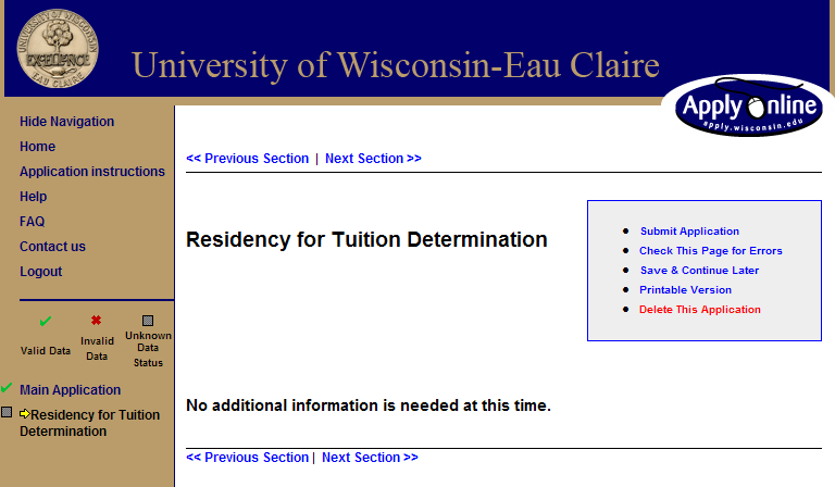 Screen 23: Residency for Tuition