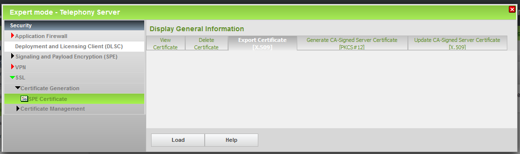 In the next step the CA Certificate has to be exported in X.