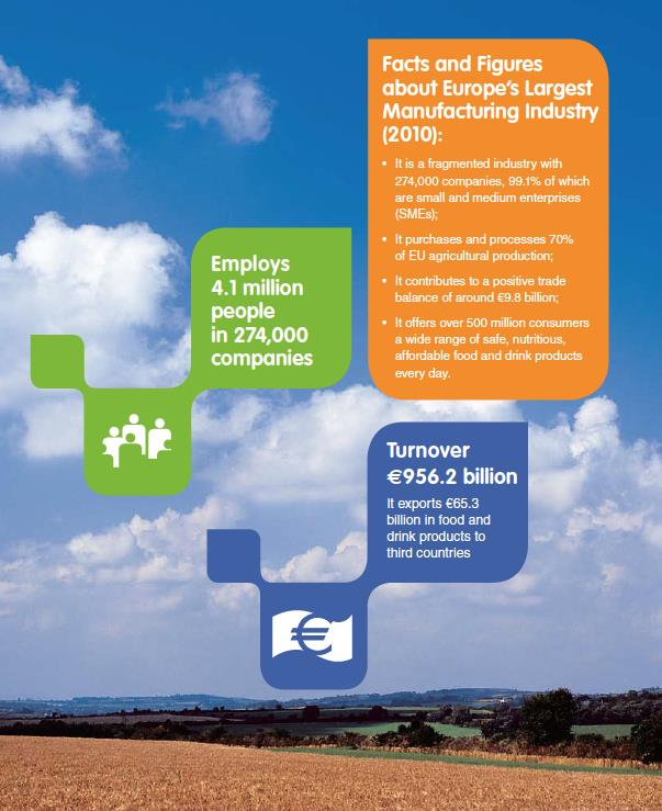 Context European Food Sector: Annual Report 2011 - Employs 4,1 million people in 274,000 companies - Leading employer in