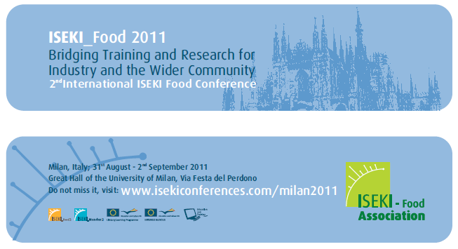 IFOOD4 - Work plan WP7 EXPLOITATION 3 ISEKI_Food Conference An International open forum for all the stakeholders of the whole food chain (students, researchers, education scientists, Technologists,