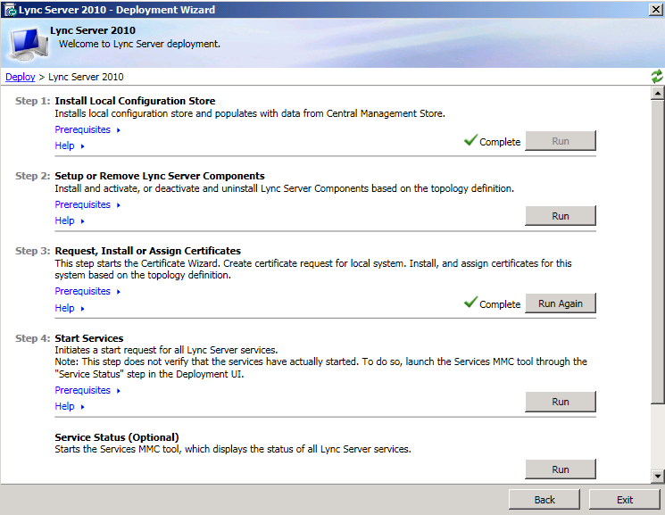 2. On the Setup Lync Server Components page, click Next. 3.