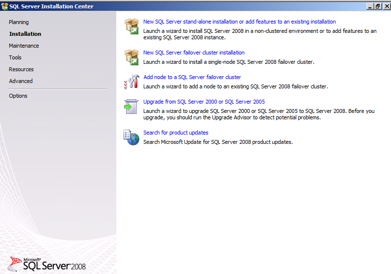 5. SQL Server Setup will begin by checking setup