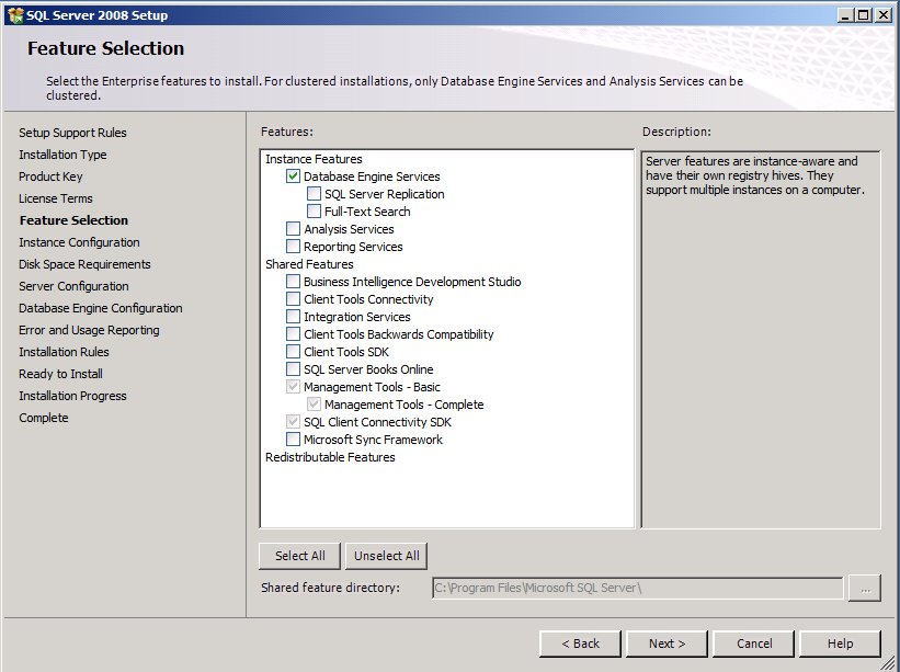 10. On the Instance Configuration page, select the Named instance